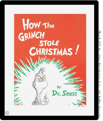 How The Grinch Stole Christmas Book Cover.Gunnar Nordstrom Gallery Fine Arts Seattle Kirkland