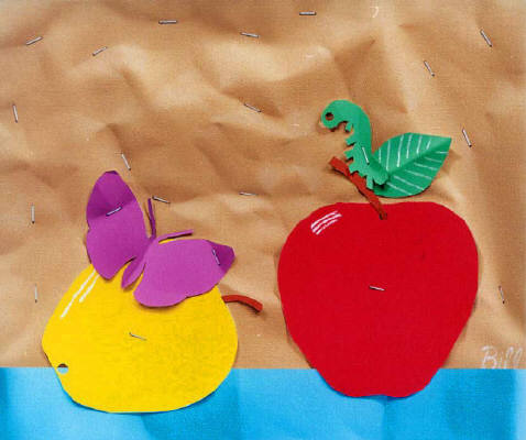 Artist: Bill Braun, Title: Apples - Trompe L' Oeil - click for larger image