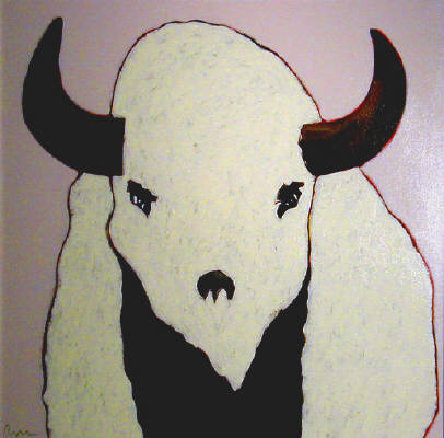 Artist: Thom Ross, Title: White Buffalo - click for larger image