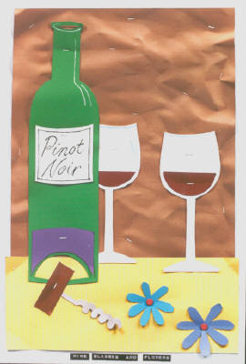 Artist: Bill Braun, Title: Wine, Glasses and Flowers - click for larger image