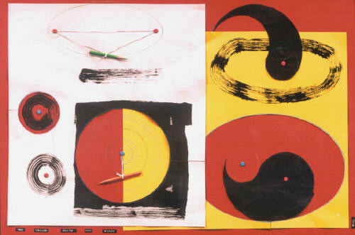 Artist: Bill Braun, Title: Red, Yellow, White and Black - click for larger image