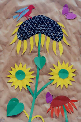Artist: Bill Braun, Title: Sunflowers - Trompe L' Oeil - click for larger image
