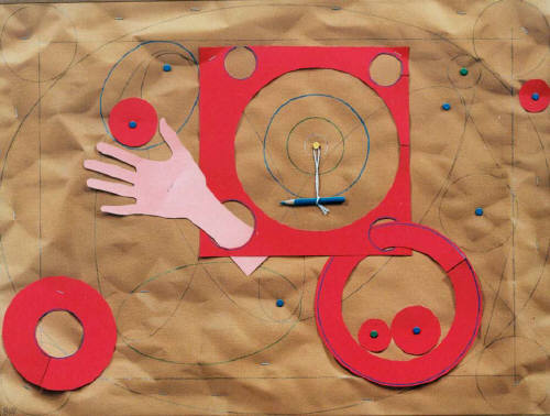 Artist: Bill Braun, Title: Red Circles - Trompe L' Oeil - click for larger image