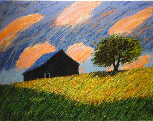 Artist: Pat Tolle, Title: Eden's Barn - click for larger image