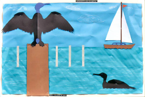 Artist: Bill Braun, Title: Cormorants - click for larger image