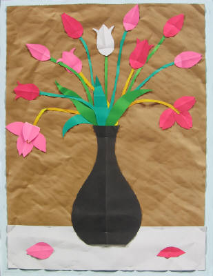 Artist: Bill Braun, Title: Pink Tulips - click for larger image