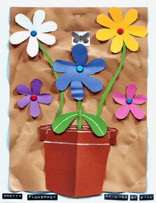 Artist: Bill Braun, Title: Pretty Flowerpot - click for larger image