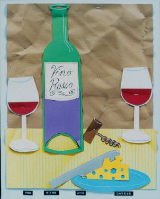 Artist: Bill Braun, Title: Red Wine and Cheese - click for larger image