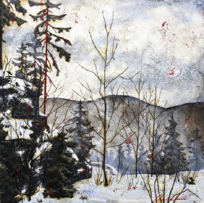 Artist: Charlie Barr, Title: Winter Meadow - click for larger image