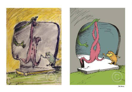 Artist: Dr. Seuss  , Title: A Thneed's a Fine Somethingthat All People Need - Diptych - click for larger image