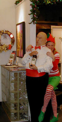 Artist: Gallery Event Photos, Title: Elf Libby being Naughty with Horace - click for larger image