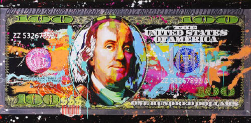Artist: Jeffrey and Michael Bisaillon, Title: Benjamins - click for larger image