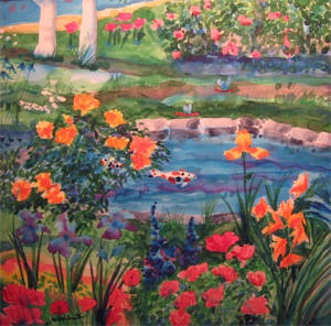 Artist: Mike Smith, Title: The Koi Pond - click for larger image