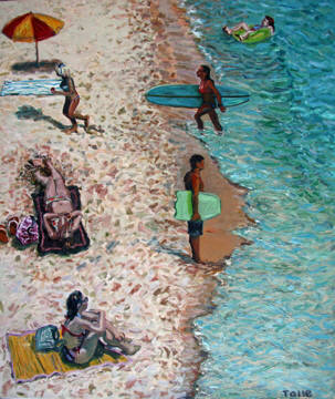 Artist: Pat Tolle, Title: Beach Life - click for larger image