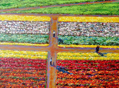 Artist: Pat Tolle, Title: Fields and People - click for larger image
