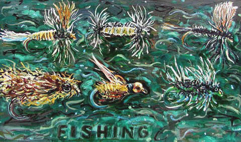 Artist: Pat Tolle, Title: Fishing - click for larger image
