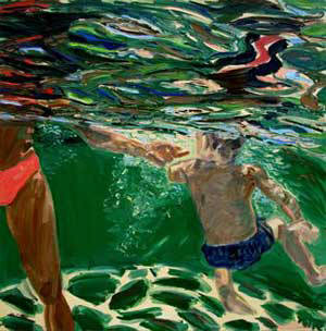 Artist: Pat Tolle, Title: Green Swimmers - click for larger image