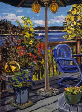 Artist: Pat Tolle, Title: Northwest Deck - click for larger image