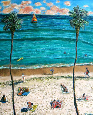 Artist: Pat Tolle, Title: Sugar Sand Beach - click for larger image