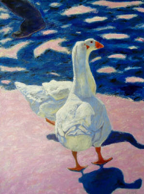 Artist: Pat Tolle, Title: Two French Geese - click for larger image