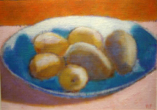 Artist: Rachel Foreman, Title: Pears in Bowl - click for larger image