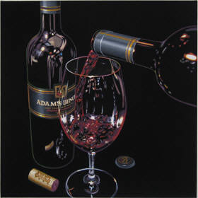 Artist: Ray Pelley, Title: Anticipation - Adam's Bench Winery  Giclee Print - click for larger image