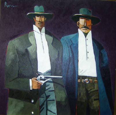 Artist: Thom Ross, Title: Assassins; Bob and Charlie Ford - click for larger image