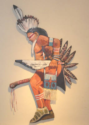 Artist: Thom Ross, Title: Pow Wow Dancer Cut-Out - click for larger image