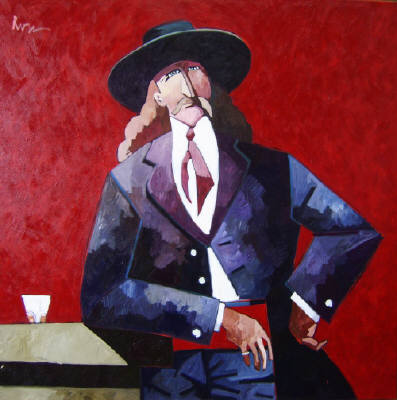 Artist: Thom Ross, Title: Wild Bill Hickok; The Red Sash - click for larger image