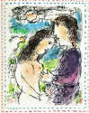 Marc Chagall - At the Dawn of Love